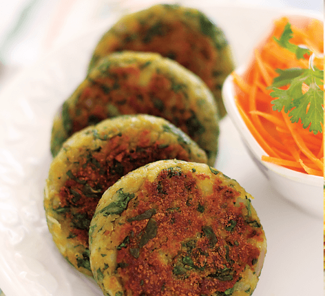 Quaker Oats Spinach Cutlets